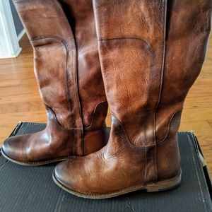 Frye Paige Tall Riding Boots Cognac Size 8